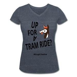 Tram Ride Women's T-Shirt - Women's Organic V-Neck T-Shirt by Stanley & Stella