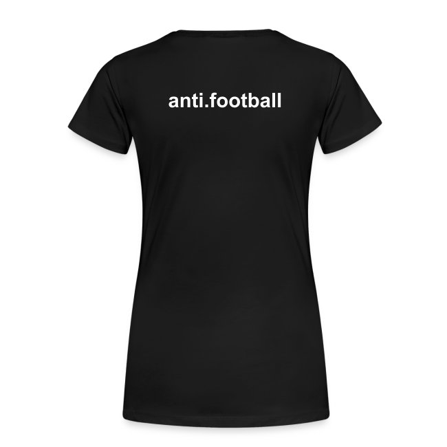 anti.football Woman's Black T-Shirt