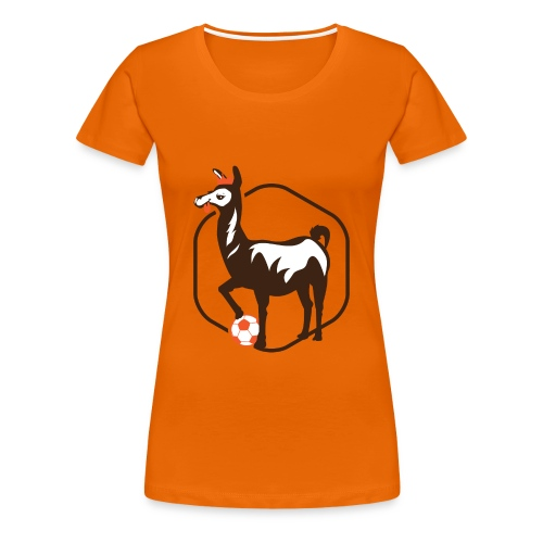anti.football Woman's Orange T-Shirt - Women's Premium T-Shirt