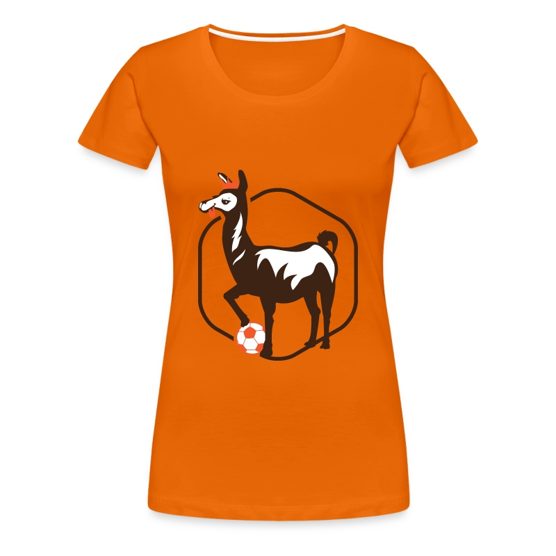 anti.football Woman's Orange T-Shirt - Women's Premium T-Shirt