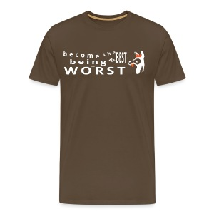Best at Worst Man's Brown T-Shirt - Men's Premium T-Shirt