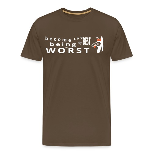 Best at Worst Man's Brown T-Shirt - Men's Premium T-Shirt