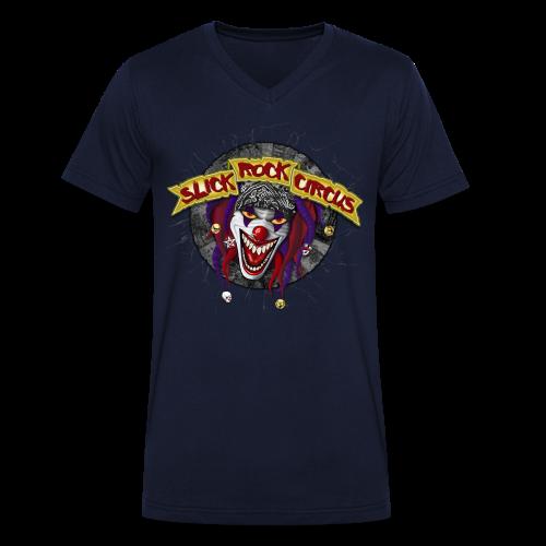 Slick Rock Circus - Evil Clown T-Shirt Men, V-Neck - Männer Bio-T-Shirt mit V-Ausschnitt von Stanley & Stella