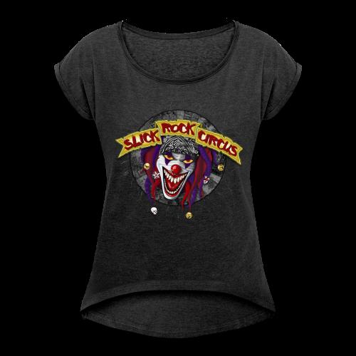 Slick Rock Circus - Evil Clown Girlie Shirt - Frauen T-Shirt mit gerollten Ärmeln