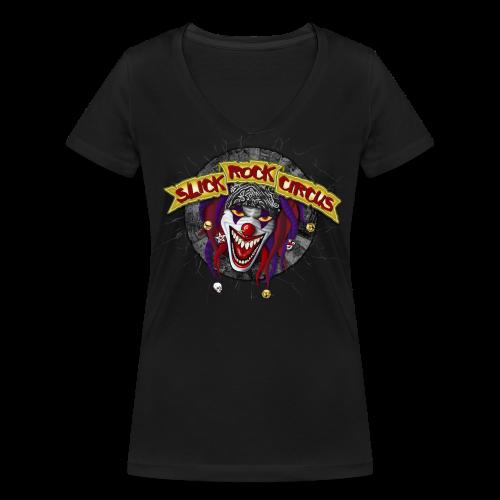 Slick Rock Circus - Evil Clown Girlie, V-Neck - Frauen Bio-T-Shirt mit V-Ausschnitt von Stanley & Stella
