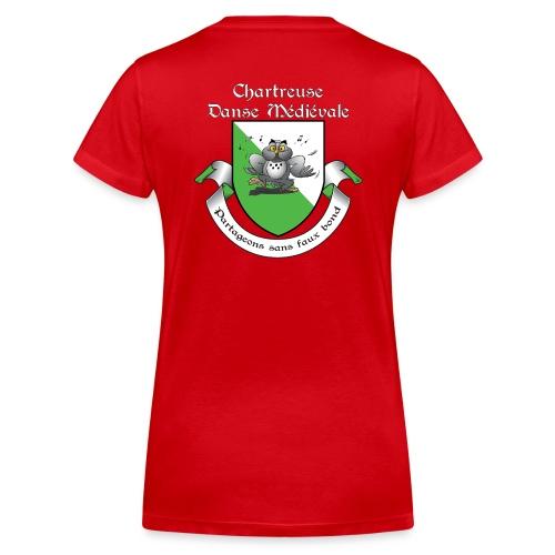 T-shirt Femme col V Chartreuse Danse Médiévale - T-shirt bio col V Stanley & Stella Femme