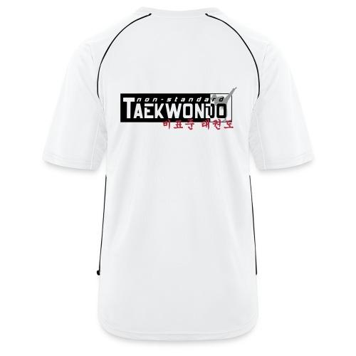 Männer Fußball-Trikot - mit Logo non-standard TAEKWONDO  auf der Vorderseite (klein) sowie ein großes Logo auf dem Rücken. Druck: Digitaltransfer