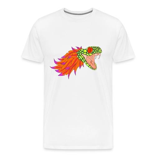 Schlangen-Shirt Männer Weiß - Männer Premium T-Shirt