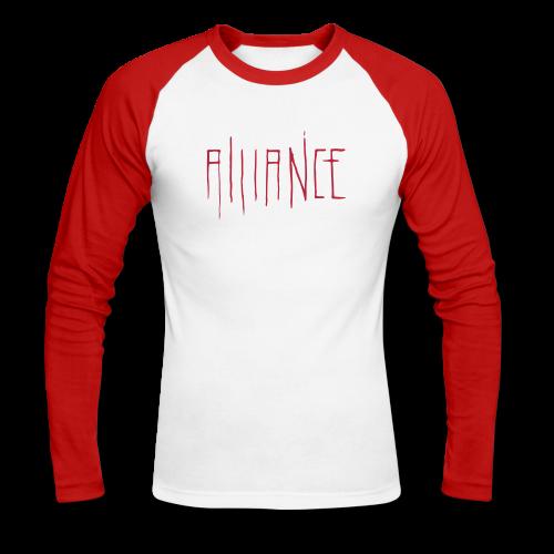 Cathedral | Raglan | Red - Men's Long Sleeve Baseball T-Shirt