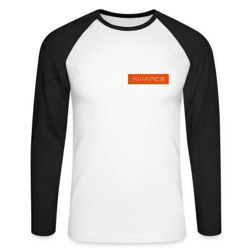 Label | Raglan | Black - Men's Long Sleeve Baseball T-Shirt