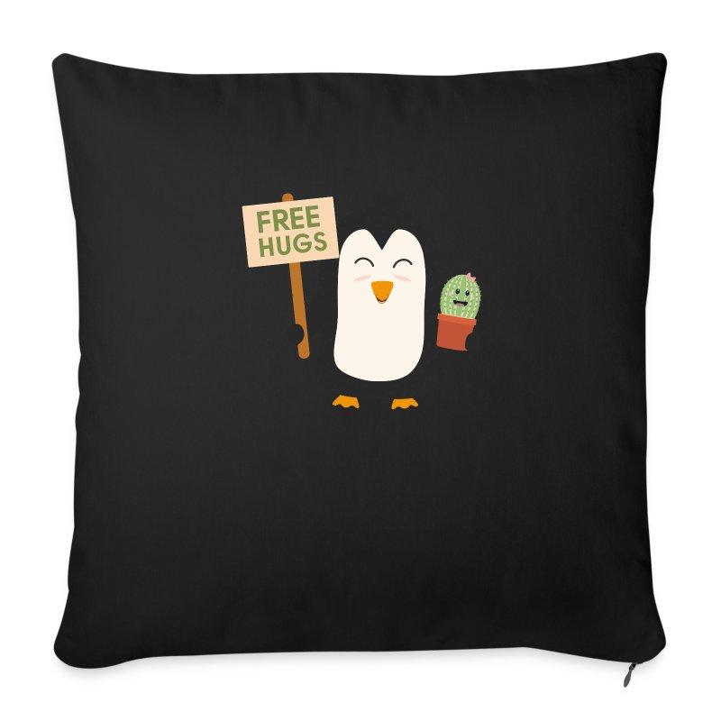 Copricuscino per divano con pinguino con il cactus for Copricuscino divano