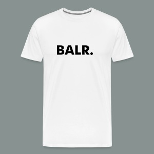 Black on White BALR. Men's Premium T-Shirt - Men's Premium T-Shirt