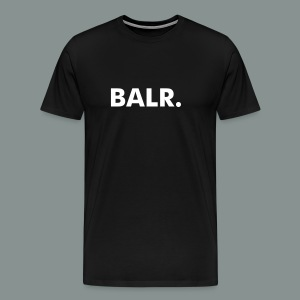 White on Black BALR. Men's Premium T-Shirt - Men's Premium T-Shirt