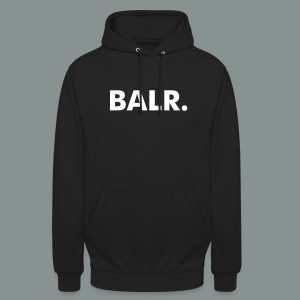 White on Black BALR. Unisex Hoodie - Unisex Hoodie
