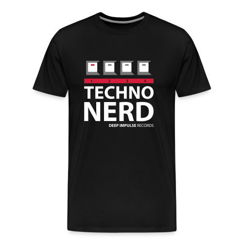 Techno Nerd black - Men's Premium T-Shirt