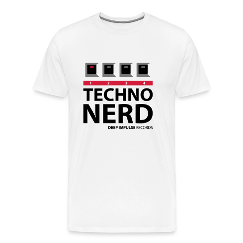 Techno Nerd White - Men's Premium T-Shirt