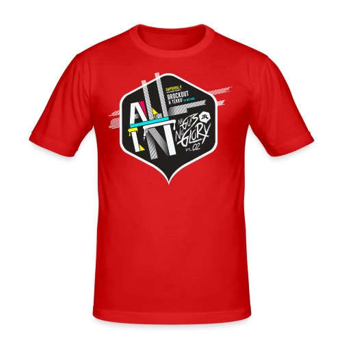 NGNG: RED / SLIM FIT - Men's Slim Fit T-Shirt