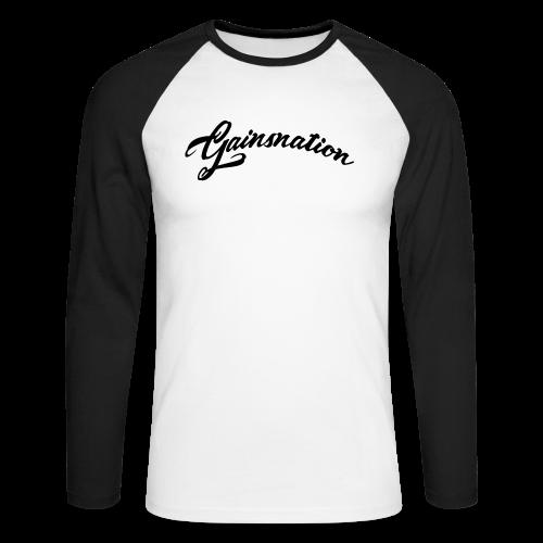 Långärmad tröja GN curved text - Långärmad basebolltröja herr