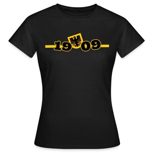 Meine Stadt Mein Verein Frauen Shirt mit Rückenmotiv - Frauen T-Shirt