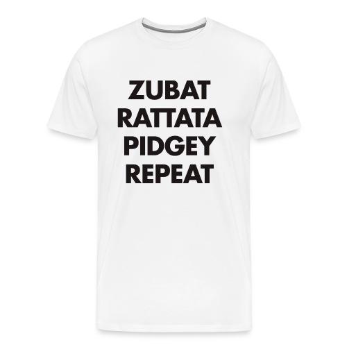 Zubat Repeat White - T-shirt Premium Homme