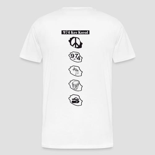 T-shirt Premium Homme symbole Ker Kreol - T-shirt Premium Homme