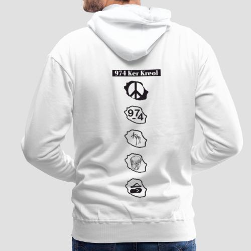 Sweat-shirt à capuche Premium pour homme symbole Ker Kreol - Sweat-shirt à capuche Premium pour hommes