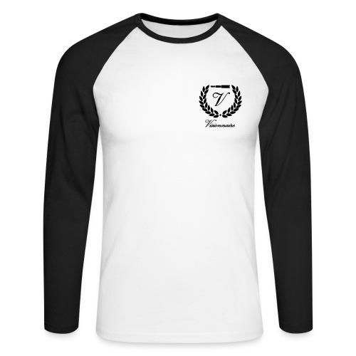 T-shirt Baseball Logo Noir - T-shirt baseball manches longues Homme