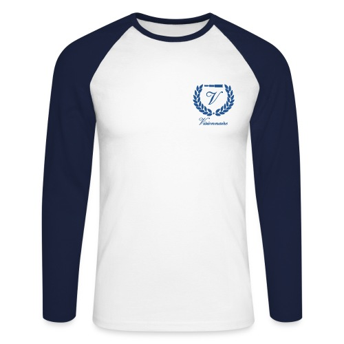 T-shirt Baseball Logo Bleu - T-shirt baseball manches longues Homme