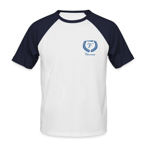 T-shirt Baseball Visionnaire Logo Bleu - T-shirt baseball manches courtes Homme