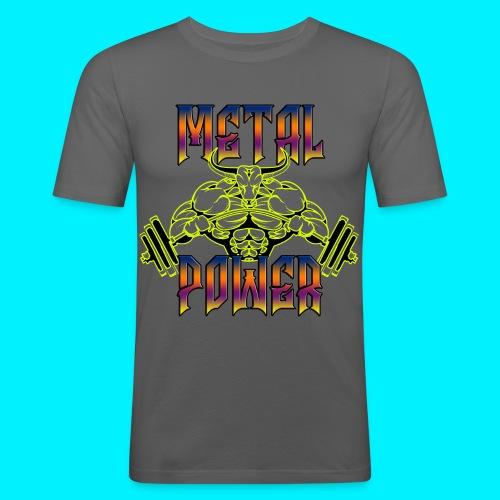 Metal Power (versione 2) TSHIRT ADERENTE - Maglietta aderente da uomo