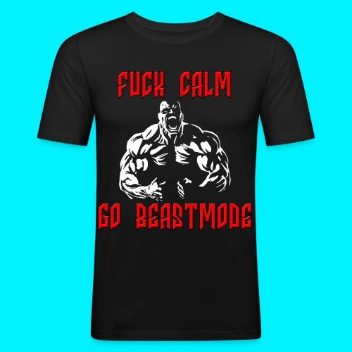 Fuck Calm Go Beastmode TSHIRT ADERENTE - Maglietta aderente da uomo