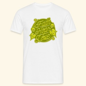Faith, Hops, Love - Männer T-Shirt