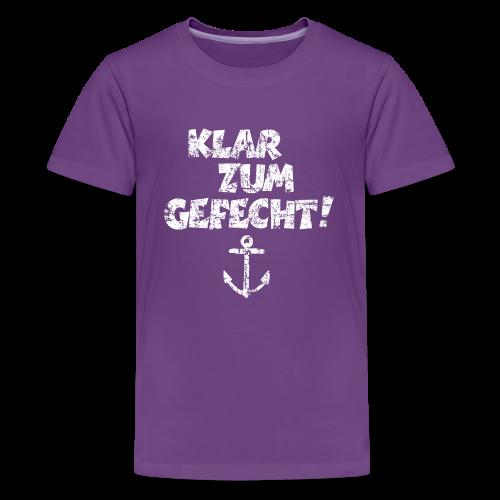 Klar zum Gefecht Anker Vintage (Weiß) Teenager T-Shirt - Teenager Premium T-Shirt