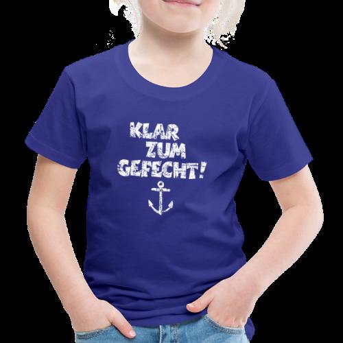 Klar zum Gefecht Anker Vintage (Weiß) Kinder T-Shirt - Kinder Premium T-Shirt