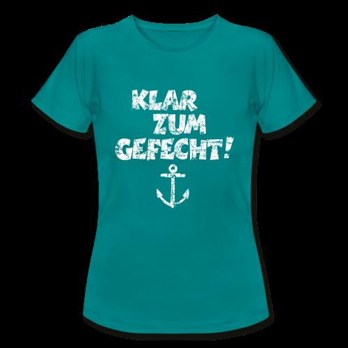 Klar zum Gefecht Anker Vintage (Weiß) T-Shirt - Frauen T-Shirt