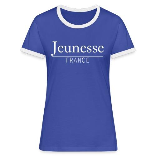 T-Shirt Contraste Femme - Jeunesse France - T-shirt contrasté Femme