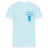 T-Shirts ~ Männer T-Shirt ~ Super Human Geripptes - Bembeltown Frankfurt