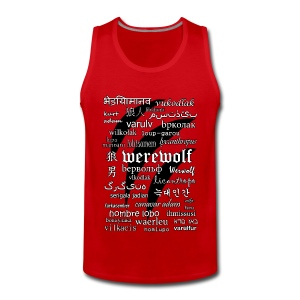 Werewolf in 33 Languages - Men's Premium Tank - Tank top męski Premium