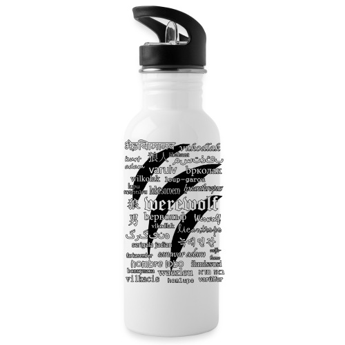 Werewolf in 33 Languages - Water Bottle - Bidon