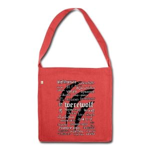 Werewolf in 33 Languages - Shoulder Bag Made From Recycled Materials - Torba na ramię z materiału recyklingowego