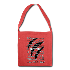 Werewolf in 33 Languages - Shoulder Bag Made From Recycled Materials - Shoulder Bag made from recycled material