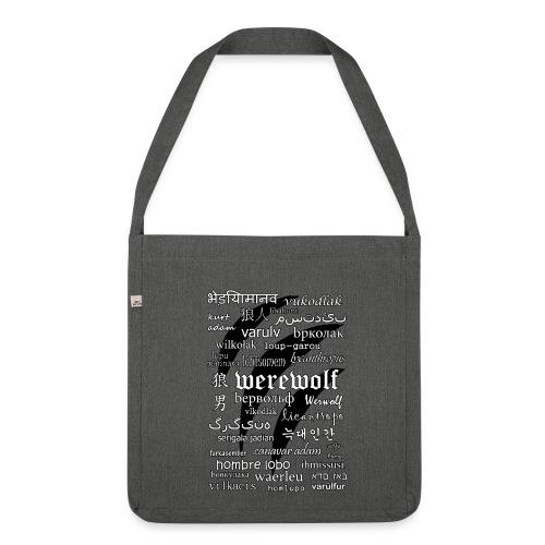 Werewolf in 33 Languages - Shoulder Bag Made From Recycled Materials - Torba na ramię z materiału recyklingowego