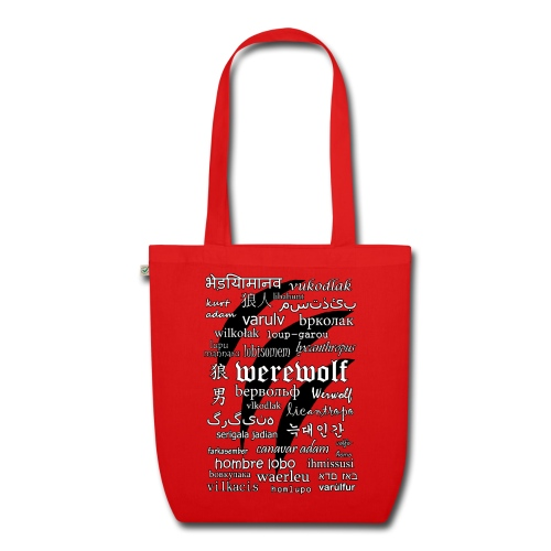 Werewolf in 33 Languages - EarthPositive Tote Bag - Ekologiczna torba materiałowa