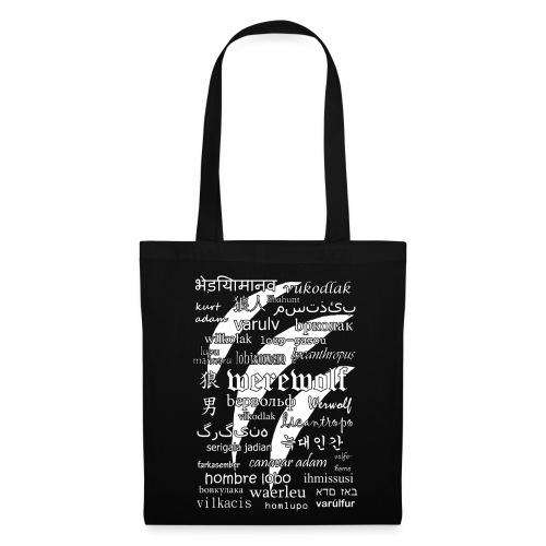 Werewolf in 33 Languages - Tote Bag (Black Ver.) - Torba materiałowa