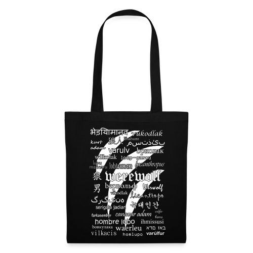 Werewolf in 33 Languages - Tote Bag (Black Ver.) - Tote Bag