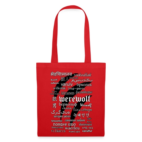 Werewolf in 33 Languages - Tote Bag - Torba materiałowa