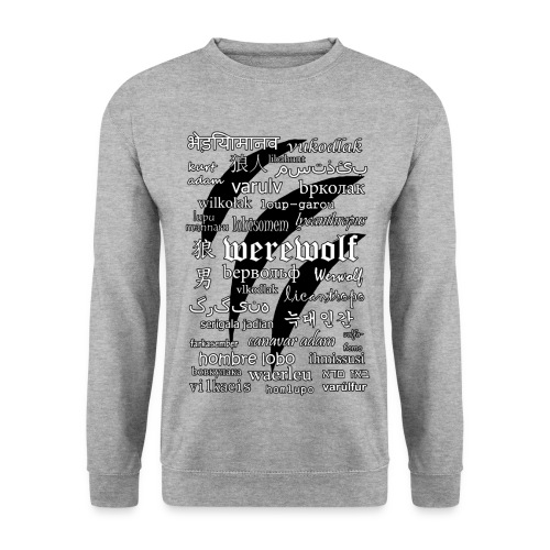 Werewolf in 33 Languages - Men's Sweatshirt - Bluza męska