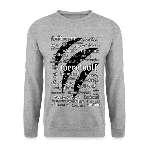 Werewolf in 33 Languages - Men's Sweatshirt - Men's Sweatshirt
