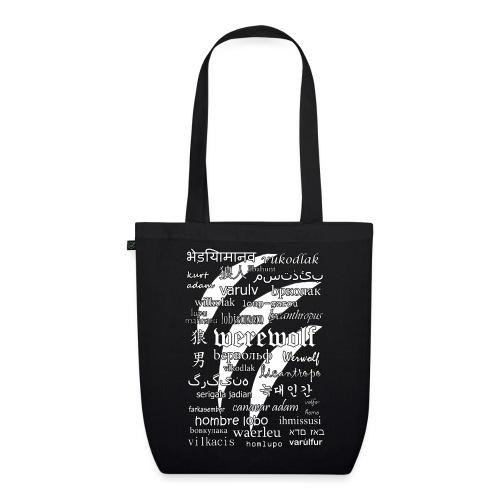 Werewolf in 33 Languages - EarthPositive Tote Bag (Black Ver.) - Ekologiczna torba materiałowa