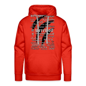 Werewolf in 33 Languages - Men's Premium Hoodie - Bluza męska Premium z kapturem